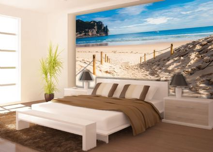 Easy to apply wallpaper murals Beach Path by the Sea